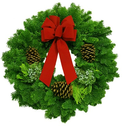 Click to view more Noble Fir Mixed Wreath Retail Gift Products