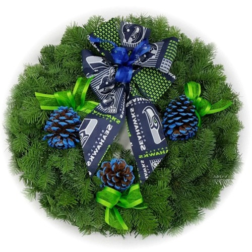 Seattle Seahawks Christmas Wreath